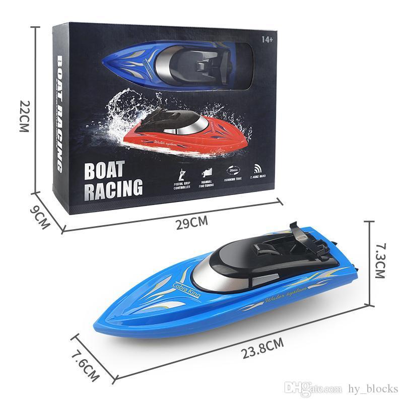 2.4G alta velocidade RC Racing barco remoto barcos de controle Mini elétrica desportivo rápido Navio crianças Brinquedos de pesca presentes