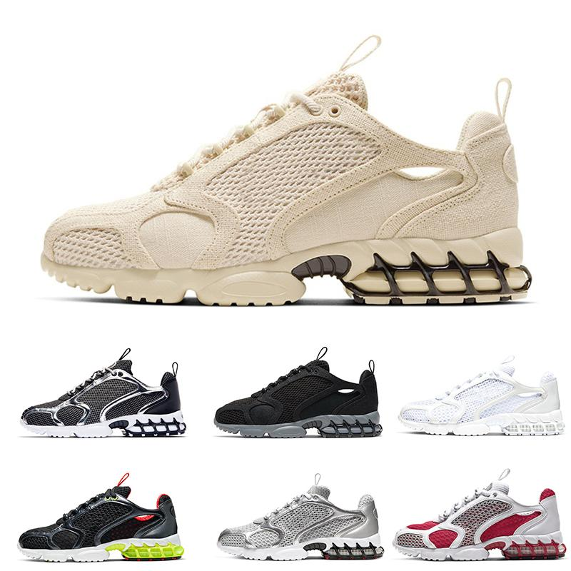 Vente en gros Fossil Spiridon Cage 2 Hommes Running Shoes Triple Blanc Métallique Silver Pure Platinum Femmes Baskets pas chers Baskets Athletic Chaussures 36-45