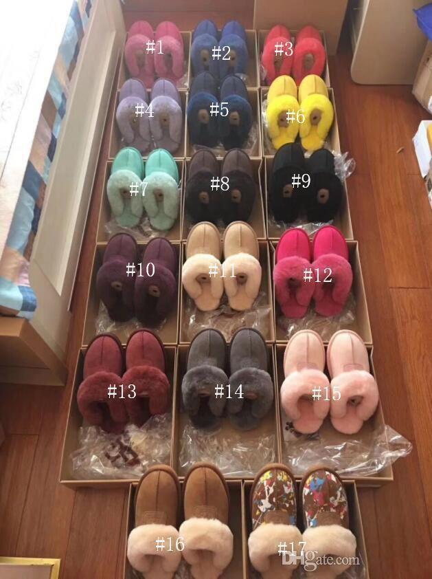 FREIES VERSCHIFFEN 2020 Qualitäts WGG Warm Baumwolle Hausschuhe Männer und Frauen Pantoffeln Damen-Stiefel-Schnee-Aufladungen Designer Indoor Cotton slippe