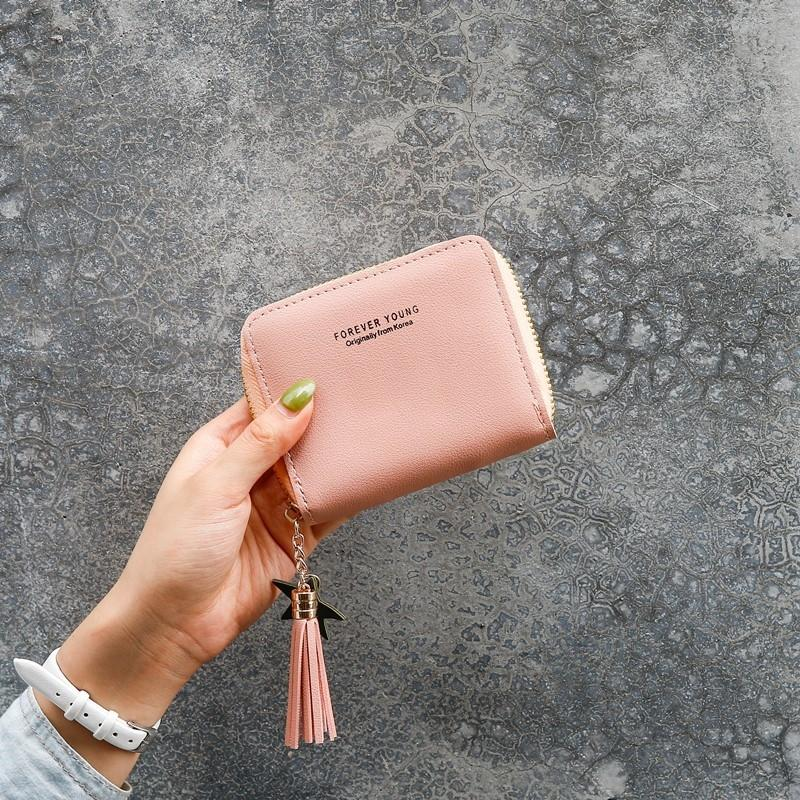 bHuIk 2019 carpeta corta cartera de las mujeres Liu Su cremallera moneda lindo del estudiante bolso cremallera corta mini mujeres coreanas