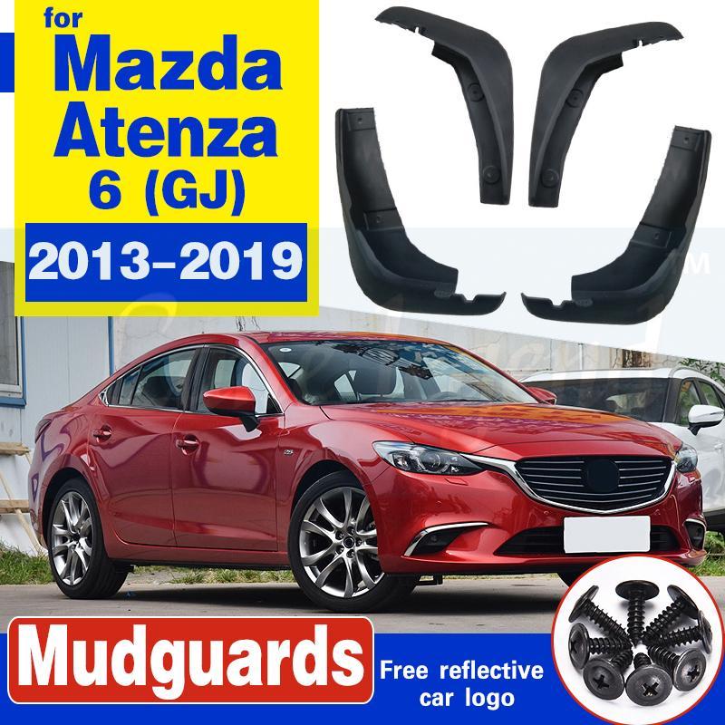 4pcs voiture boue Rabats pour Mazda 6 (GJ) Atenza 2013-2019 bavettes garde-boue BOUE Garde-boue Fender 2014 2015 2016