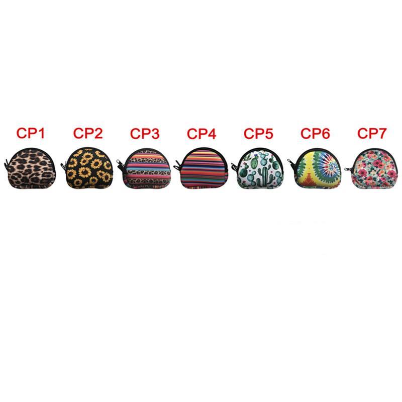 Neopren Semisirküler Taşınabilir Maske Çanta, Para Çanta, Su geçirmez Kulakçık Kılıf / Çanta ile Keyrings