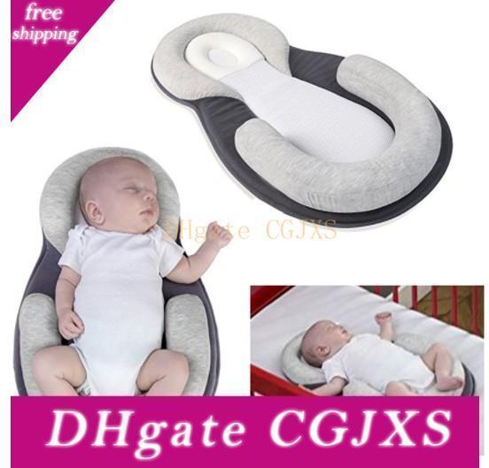 Bébé Stéréotypes oreiller enfant nouveau-né Anti -Rollover matelas oreiller pour 0 à 12 mois de couchage pour bébé Positionnement Pad coton oreiller