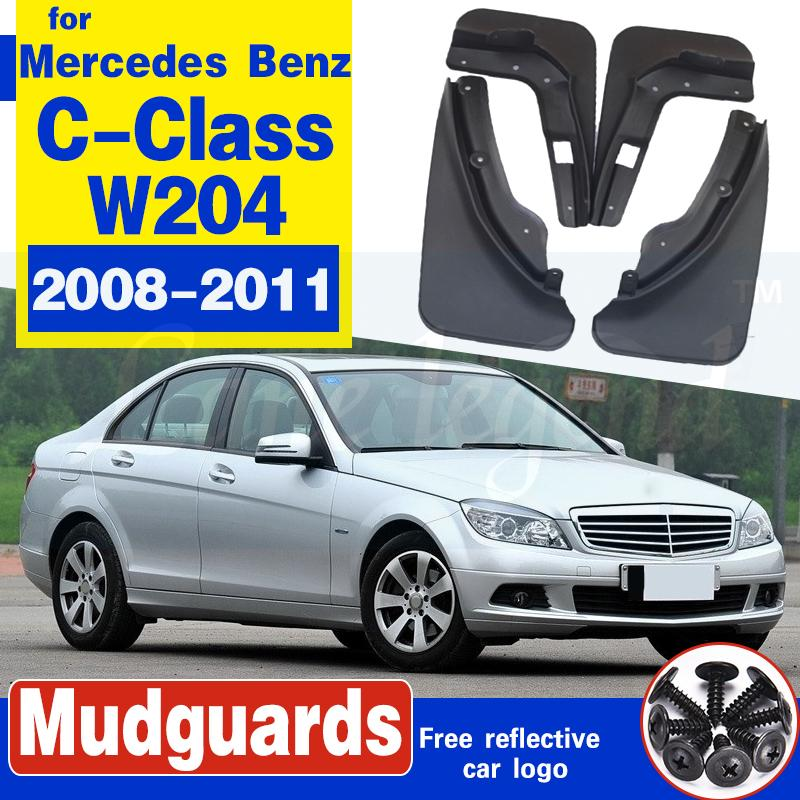 Bavette pour Mercedes Benz Classe C Classe C W204 2008 ~ 2011 Fender boue Garde Rabats Garde-boue Garde-boue Accessoires voiture