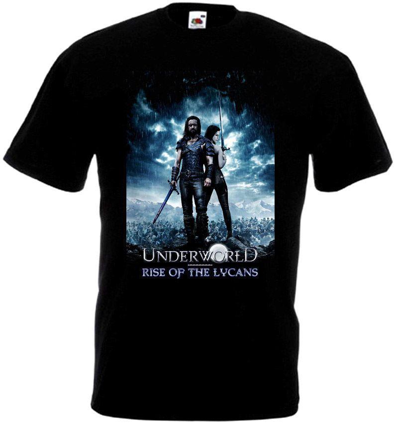 UNDERWORLD Aumento Dei Lycans shirt V1 T nero Poster del film Tutte le dimensioni maglietta S-3XL Tops fredda di estate T-shirt divertente