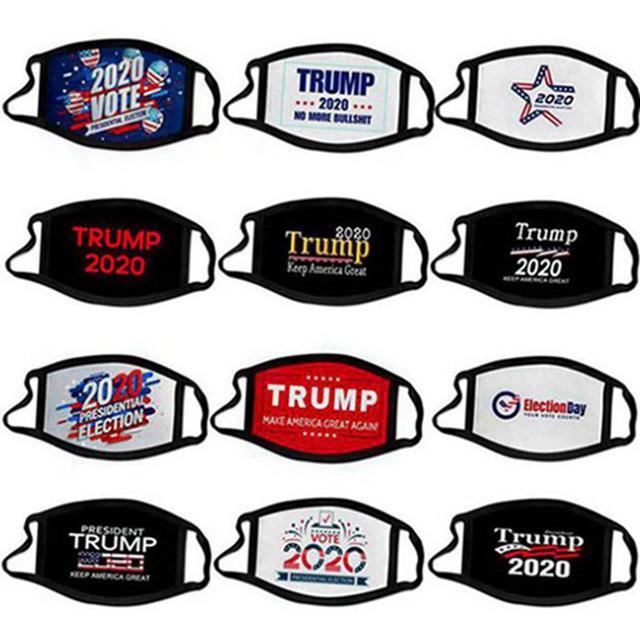 2020 Trump maschera elezioni presidenziali campagna progettista faccia uomini riutilizzabili maschere nere Trump stampare protezione antipolvere bocca maschera 50pcs