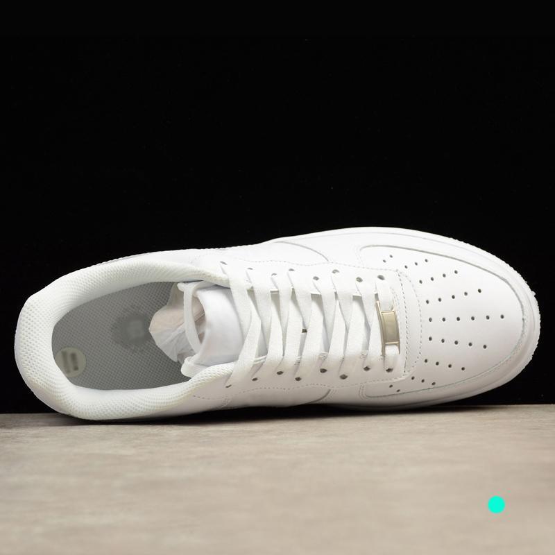 Zapatillas de deporte superiores de diseño para mujeres hombres ce 1 bajo una alta 07 deportes de la moda AF1 obligan los zapatos del patín toda la venta barata blanca