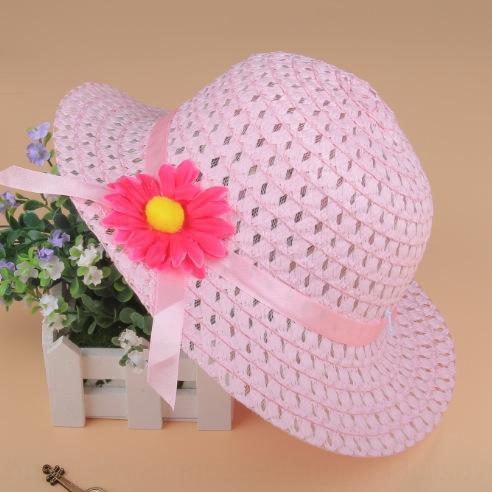 Корейский стиль весной и летом ребенок ВС ленты лук соломы Бабочка соломы детская модная шапка детская шапка