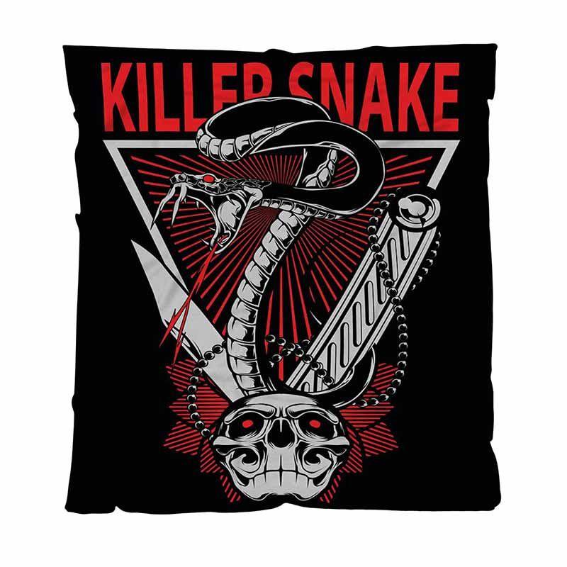Calentar la franela suaves mantas Mantas sólidas, Snake Vector Desgn, Soft Blanket multifuncional cómodo