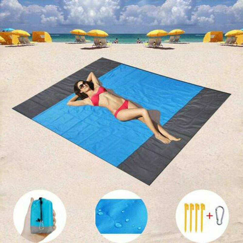 Çift Katlanabilir Su geçirmez Plaj Mat Açık Piknik Battaniye Kilim Sandless Yatak İçin Kamp Yürüyüş YENİ Taraflı