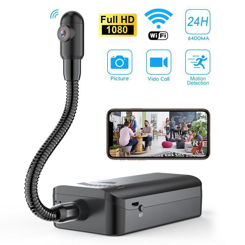 1080P HD fai da te mini macchina fotografica di WiFi S Snake Camera Shape endoscopio flessibile Wireless IP Videocamera periscopio Guarda Video Recorder Monitor Movimento