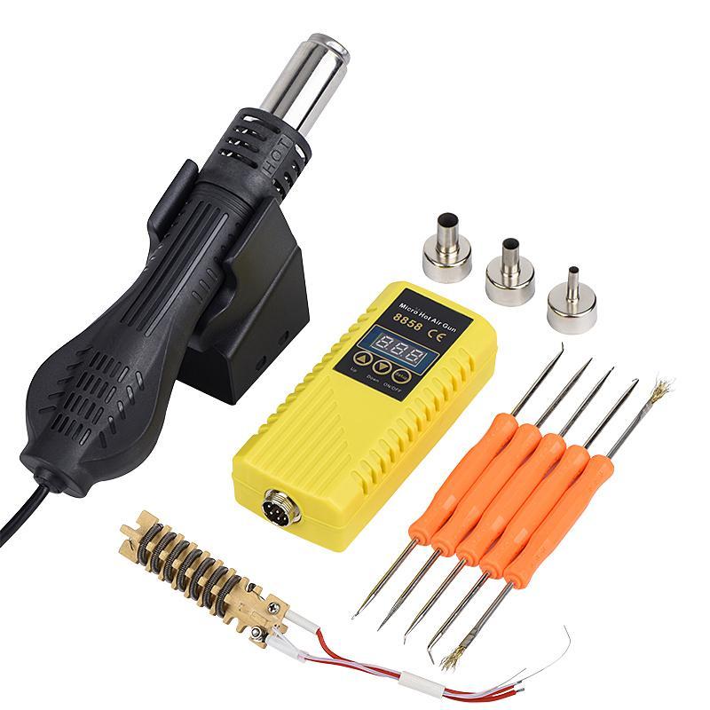JCD بندقية الهواء الساخن 8858 220V 700W LCD الرقمية المنفاخ الهواء الساخن لحام آلة مجموعات الصغيرة المحمولة محطة إعادة العمل لحام بندقية الحرارة