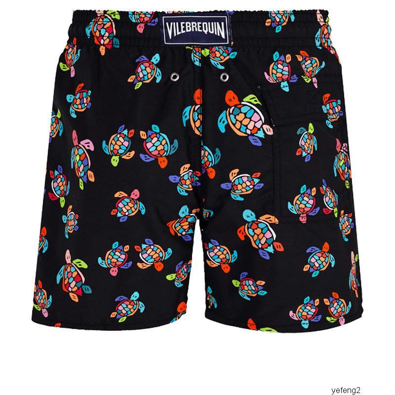 short swim mens summer Vilebrequin bermuda beach clothing TURTLES Newest Summer Casual Shorts Men Fashion Style Mens Shorts