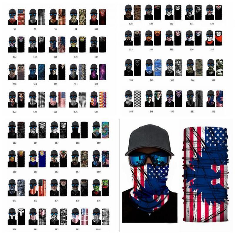 79styles bufanda mágica Bandana Mascarillas Diseñador multifuncional al aire libre Pañuelo transpirable sudor Máscara Absorbente cuello cubierta YYA401-2