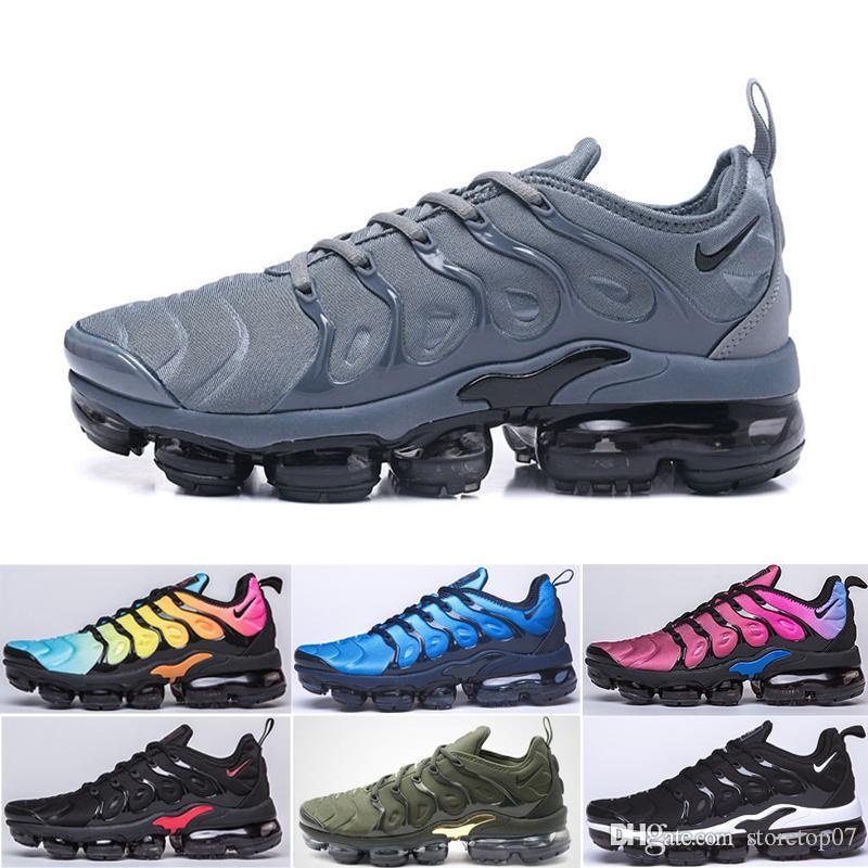 Лучший TN Plus кроссовки Мужчины Женщины Шерсть Серый игры Королевский тропический закат Creamsicle кроссовки Спортивная обувь Размер 36-45 DE7K