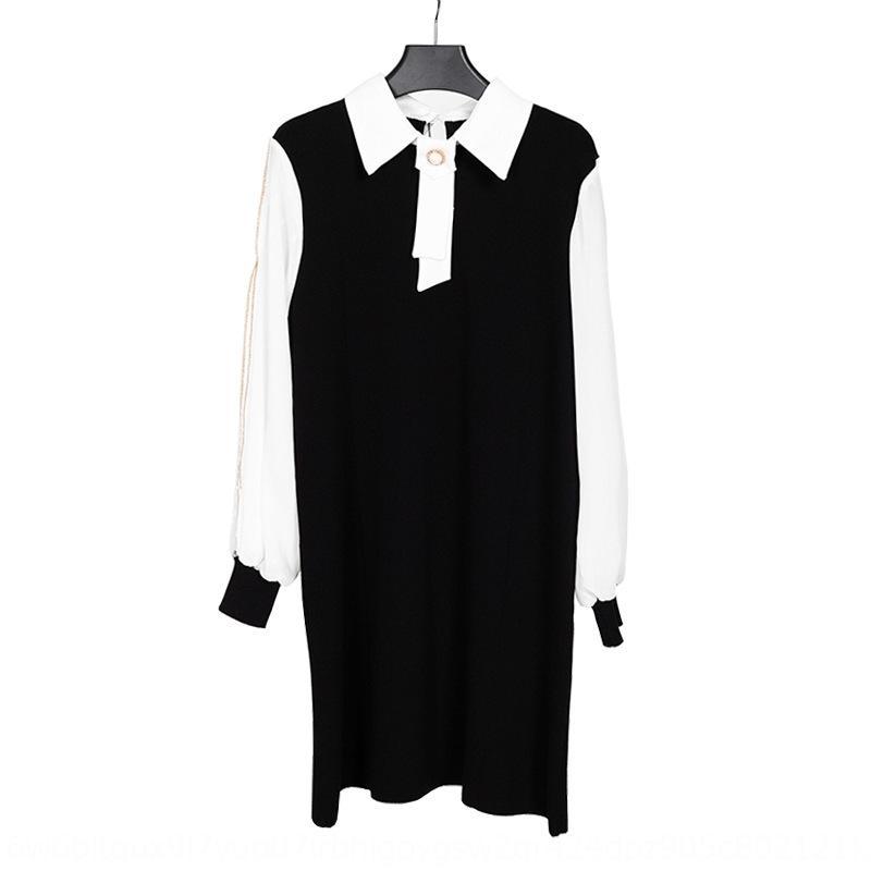 Qj2Hm Hipster Buz İpek bayanlar 2020 kadın yaz Kore moda zayıflama A- çizgi elbise küçük A- çizgi elbise birleştirilmiş örme