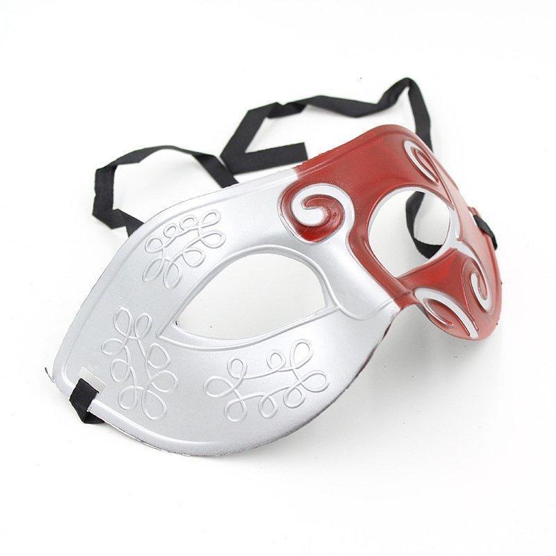 Roman Retro Masquerade gladiatore mascherine del partito veneziana di Halloween danza uomini maschera protezione mezza Props Hha1387 Xh3b #