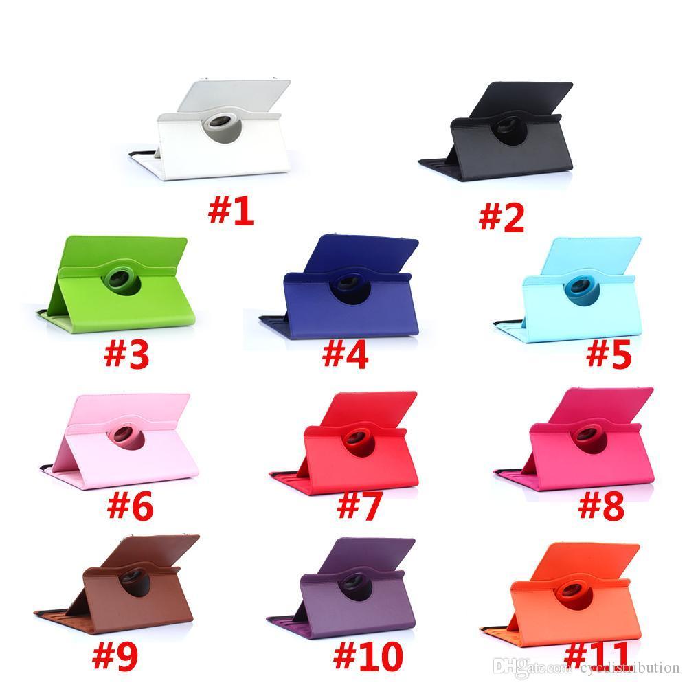 Универсальная 360 градусов вращение PU кожаный кожаный кожаный кожаный чехол для таблетки для 7 8 9 10 дюймов защитный чехол 11 цветов