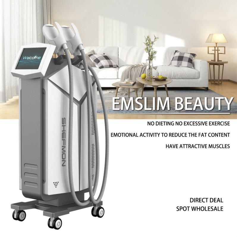 New Fat Reduction Devices Electromagnetic Energy Abs Toning and Buttocks Liting EMSlim Machine 2 Years Warranty