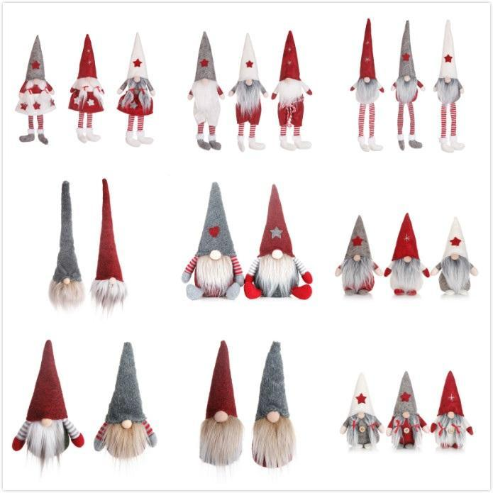 24 스타일 재미 있은 크리스마스 아니 얼굴 인형 유럽의 미국 스타일 창 인형 산타 클로스 인형 만화 크리스마스 장난감