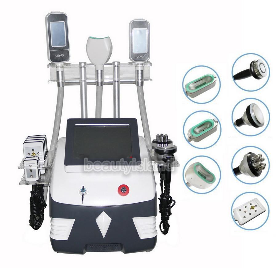 휴대용 지방 동결 Cryolipolysis 슬리밍 기계 Cavitation RF Lipo 레이저 7 1 체중 감량 아름다움 장비