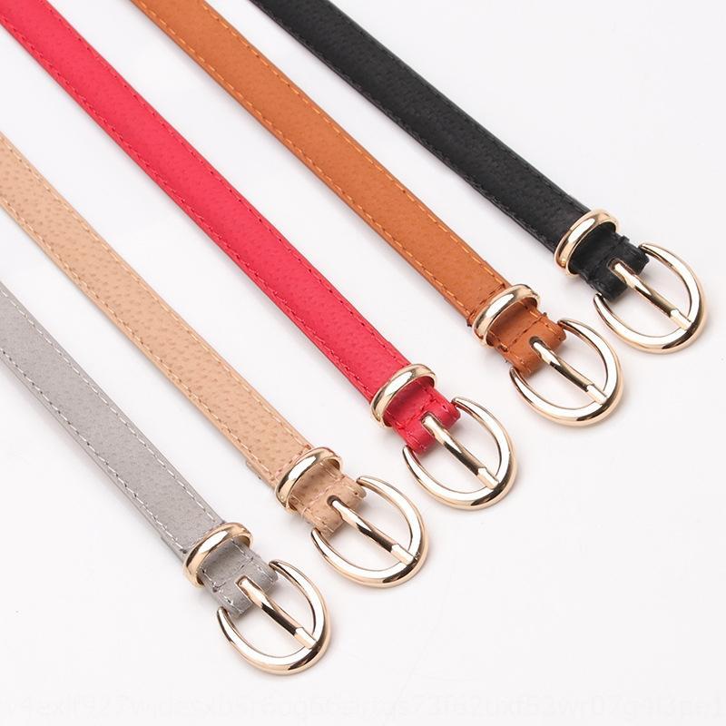 Sanyi couleur nouvelle décoration de peau de porc des femmes et des jeans à la mode mince tout match jeans occasionnels ceinture étudiante ceinture
