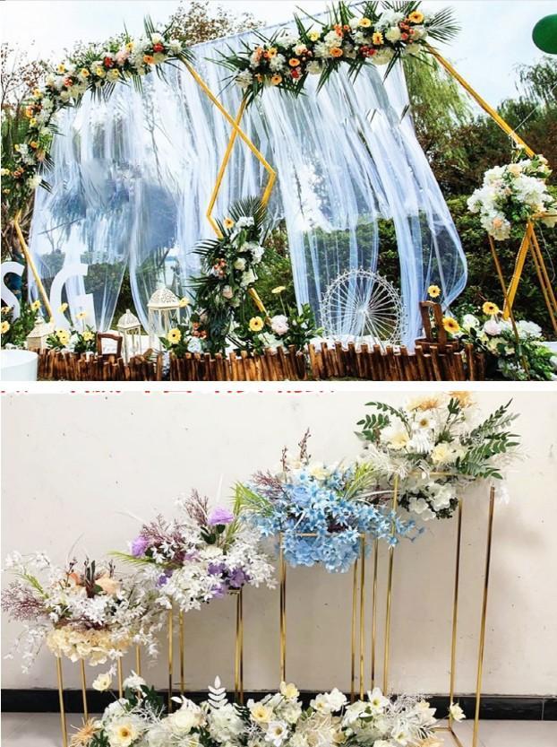 11 pcs gramado ao ar livre ferro plinath flores de casamento arco adereços festa backdrops estrada chumbo para parede balões faixa mesa central peças de decoração