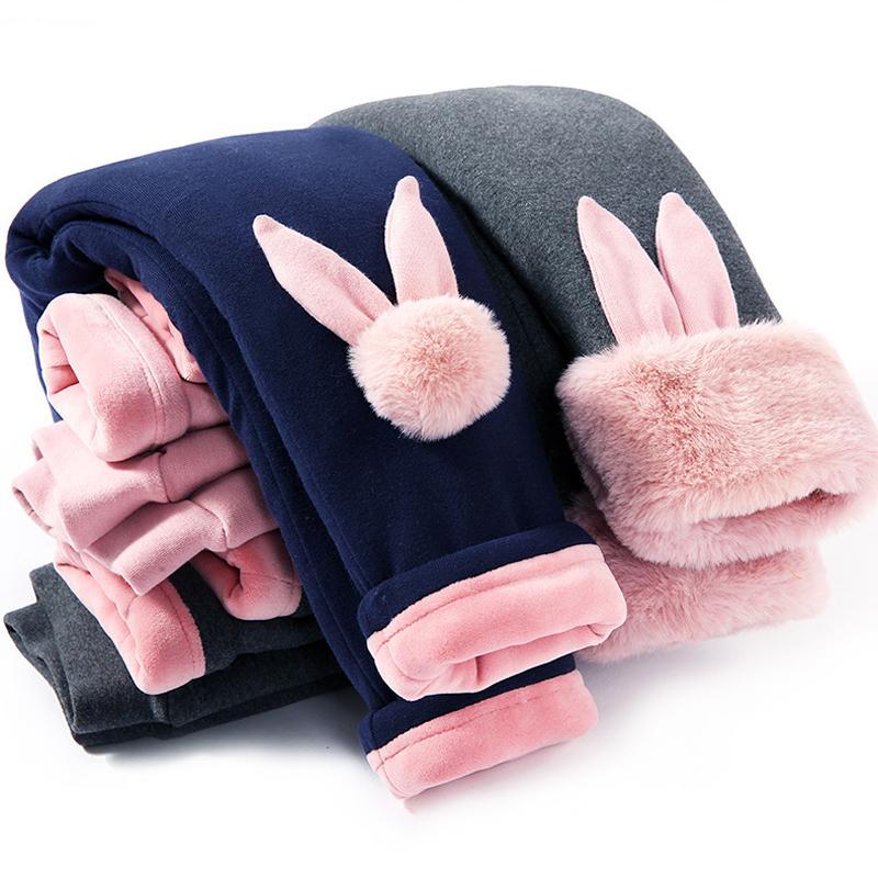 CALÇAS puro algodão acolchoados da menina Leggings de Inverno dos desenhos animados Cotton Pants Outwear bebê aquecido Calças Plush espessamento NOVO Criança Calças MX200811