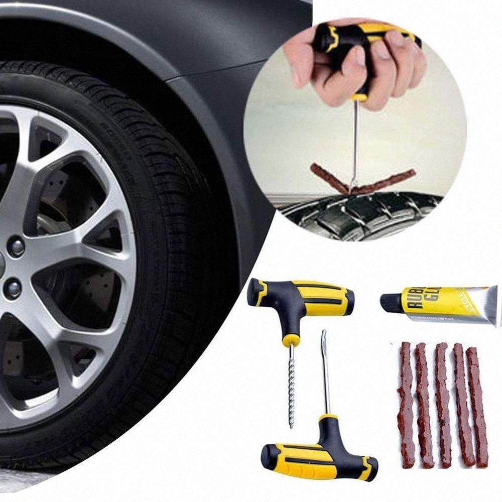 Pneu Repair Tool Tire Repair Kit studding Tool Set Auto bicicleta Tubeless Tire Puncture plug garagem do carro Acessórios 7wom #