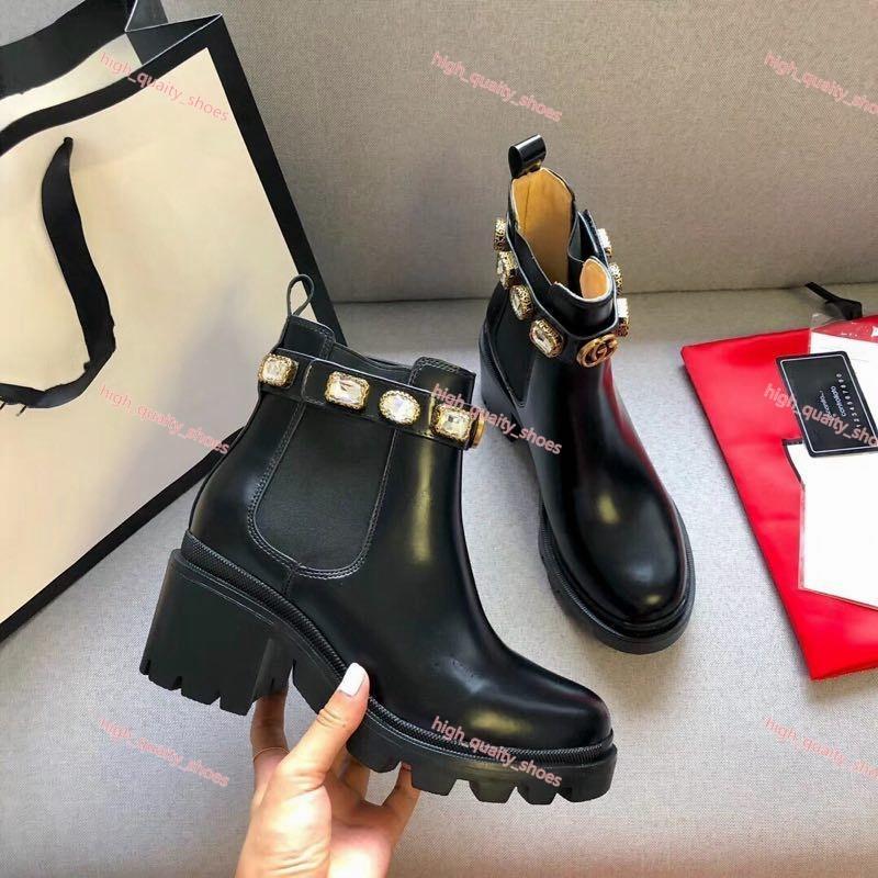 أعلى السيدات لوكس حذاء جلد البقر قصيرة كلاسيكية التصميم النحل النساء أحذية جلدية عالية الكعب الأحذية لوكس أزياء الماس مارتن الأحذية حجم 35- 40