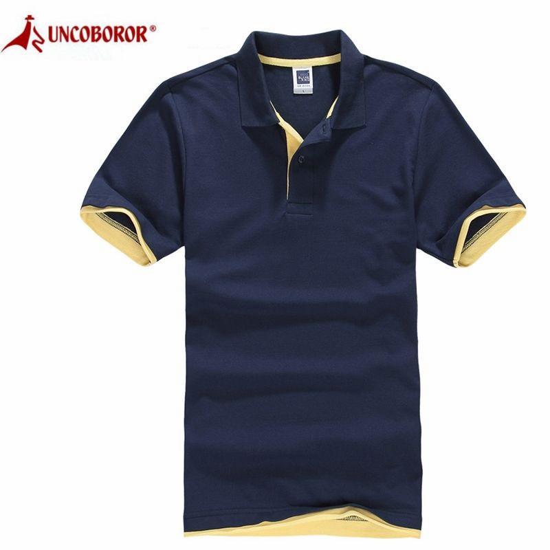 Erkekler T Shirt Yeni Yaz Marka Casual Katı Spor Pamuk Kısa Kollu Turn-Aşağı tişört Erkekler Formalar Erkek Camisa Artı boyutu 3XL LJ200827