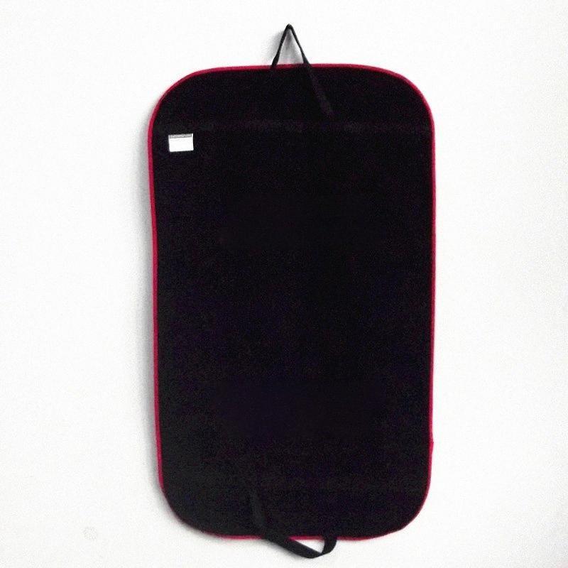 Manteau noir Vêtements Costume de vêtements Sacs couverture cache-poussière Hanger Stockage Protection Voyage stockage Organisateur cas de la #