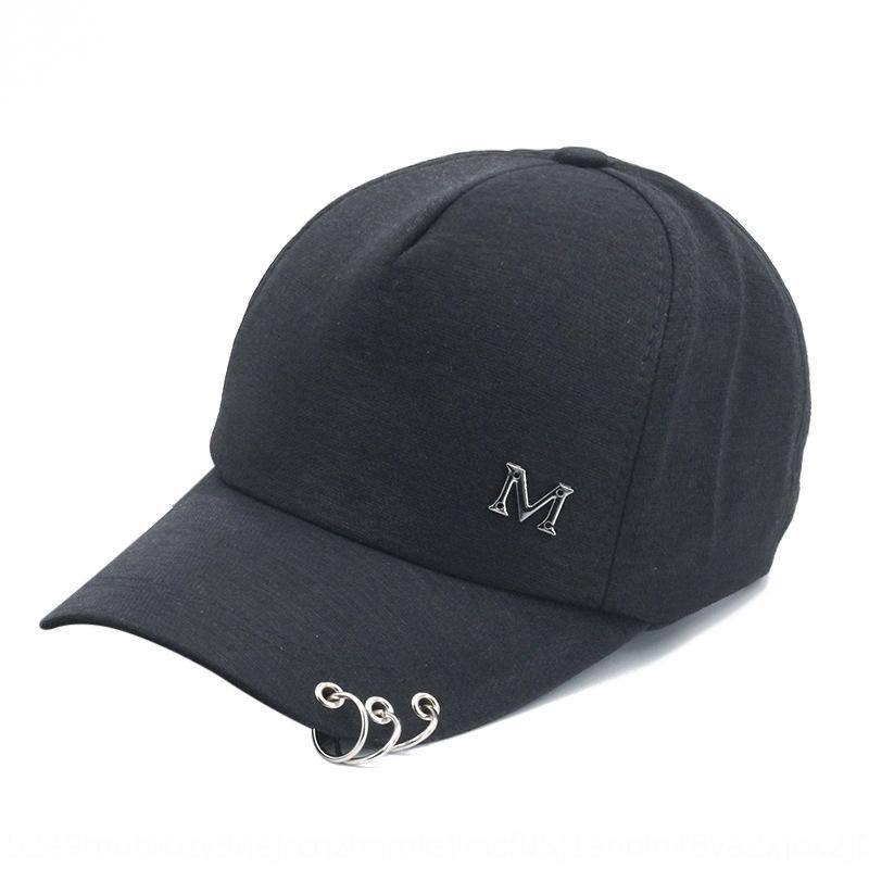 NhuuB estilo de Corea personalizada de hierro de béisbol del sombrero de béisbol de primavera y el verano estándar M de tres anillos de tapa de protección solar al aire libre de los niños soles