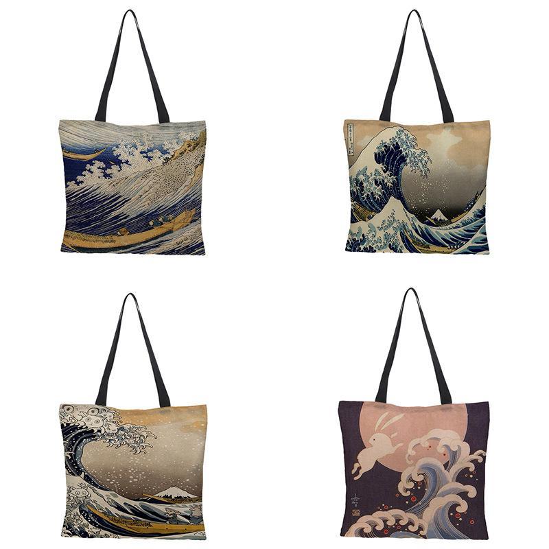 Canvas Tote Bag for Women Cotton Cloth Shopper Bags Handbags Eco Reusable Shopping Bag Beach Bags