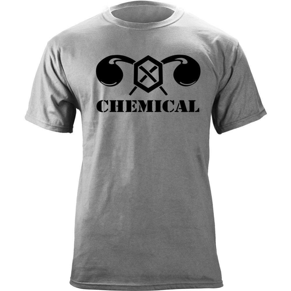 T shirt Moda Uomo 2020 manica corta Hipster US Army Chemical Branch Insignia Attraversata Oro Storte Veteran Graphic T-shirt