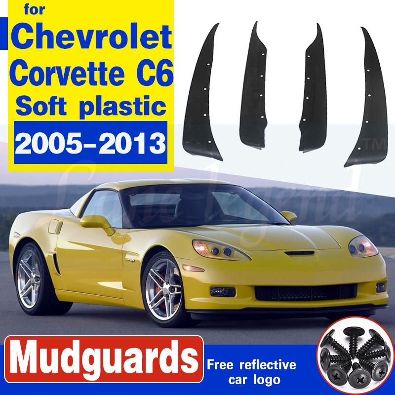 Garde-boue voiture pour Chevrolet Corvette C6 2005-2013 avant roue arrière boue Rabats Bavettes garde-boue Bavette Accessoires voiture