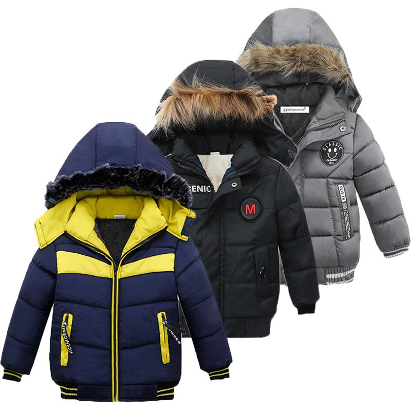 Children Jacket For Boys Coat 2020 Autumn Winter Jackets For Kids Jacket Baby Warm Hooded Zipper Outerwear Coat For Boys Clothes Y200831