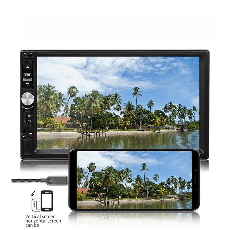 7 Zoll HD Touch Screen Multimedia Auto MP5 Doppel-DIN-Stereoradio Rückansicht Kameraeingang Auto-DVD