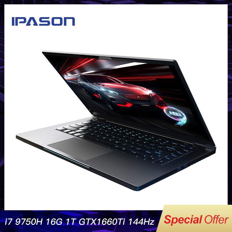 ipason ganing الكمبيوتر 15.6 بوصة إنتل الأساسية الألعاب رقيقة جدا ألعاب الألعاب / 9750h 16 جرام رام 1T SSD GTX1660TI 144HZ عالية السعر