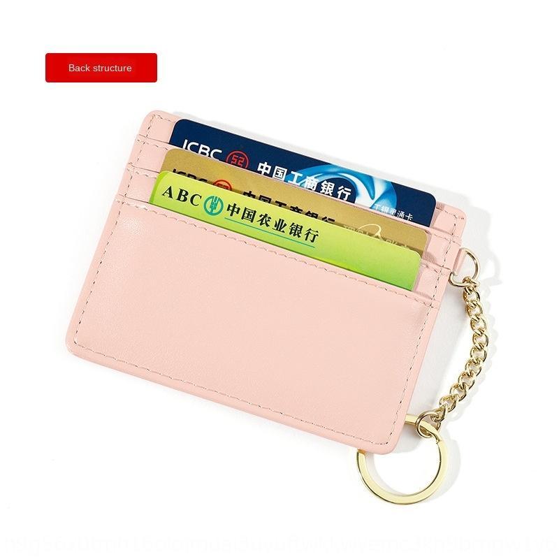 Yueyuankai nouveau style coréen sac porte multi porte-clés à la mode porte-carte recto verso sac carte dame multi-fonctionnelle
