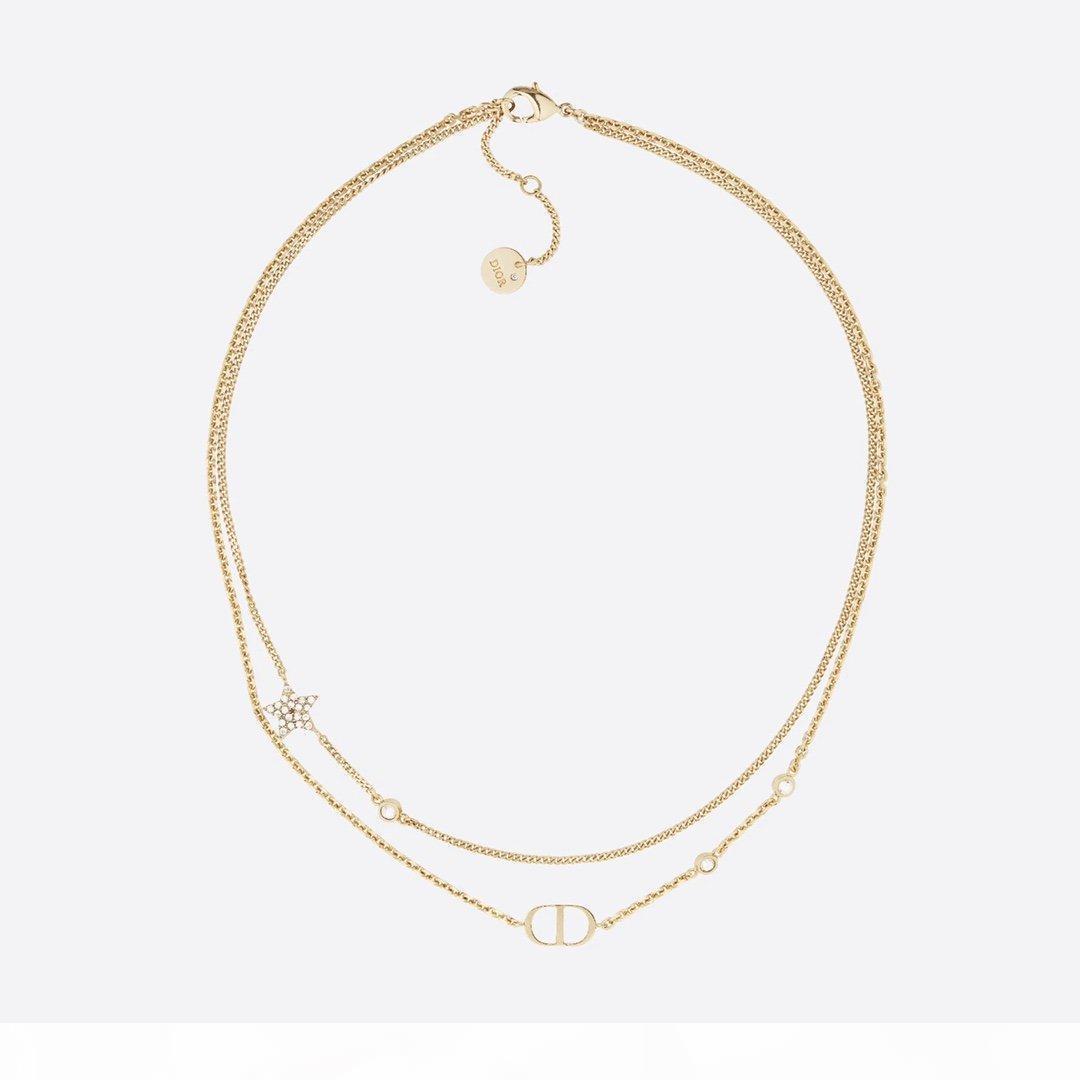 Di lusso della nuova collana lettera D C nuova collana di diamanti Pearl Piazza di marca diamante gioielli in stile vari CC