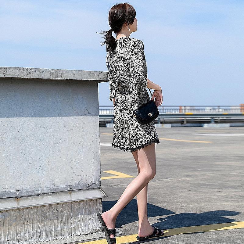 Geniş iMl1O bvgwC Geniş bacak pantolon Suit bacak yeni iki parçalı yaz mizaç rahat moda Fransız şifon bayan elbise Batı tarzı 2020 pantolon