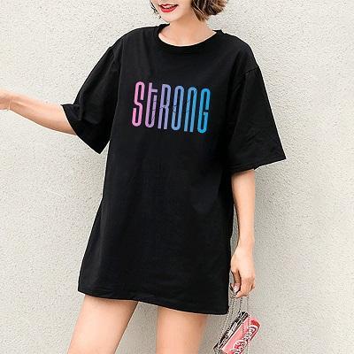 2020 Kadın Tişörtler Kız Casual DIY Tişörtler Harf Desen Baskı Lady Tees Yeni Renkli Harfler Kısa Kollu Yüksek Kalite Tops