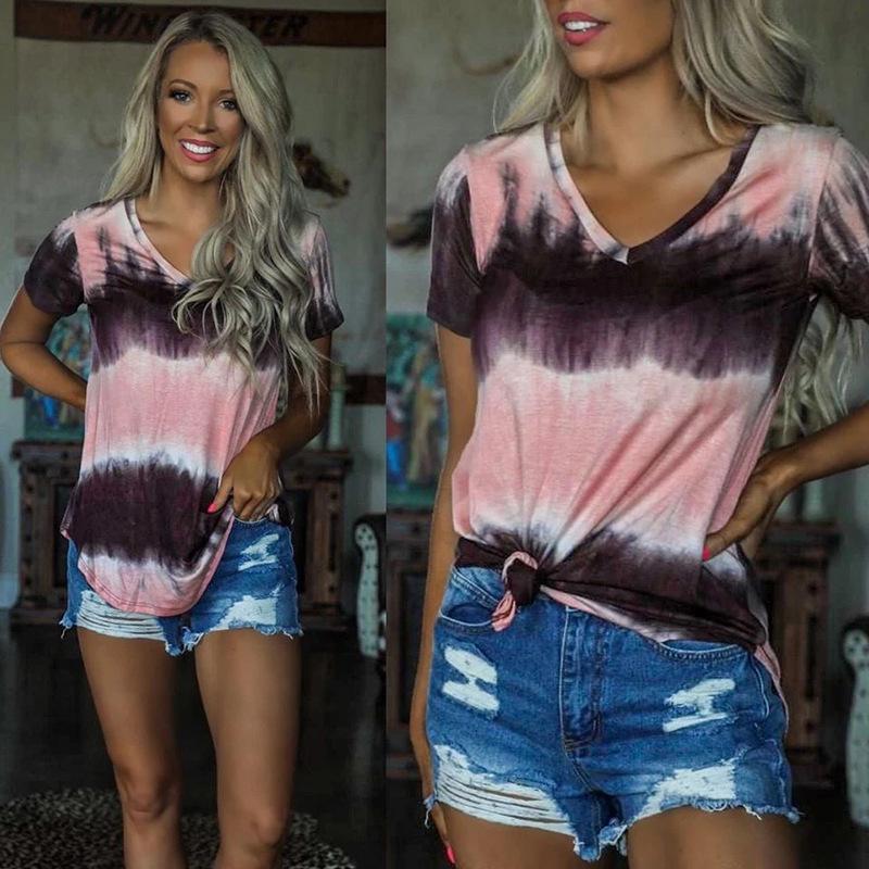 Europeus e americanos 2020 nova chegada do verão camisa do desgaste plus size boa qualidade manga curta das mulheres