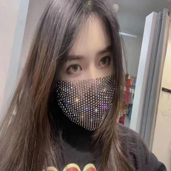 masque de diamant de mode pour les femmes nouveaux masques de protection solaire peut être réutilisé dans la tendance masque de couleur d'été des masques en strass