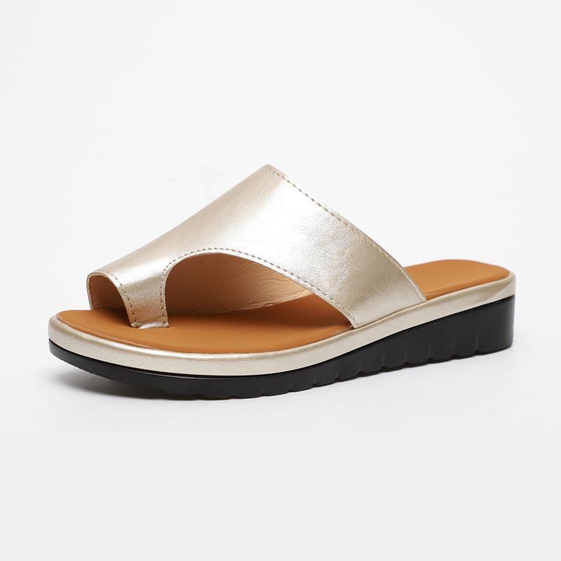 Хорошее качество Женщины Летний Клин Сандалии Обувь Beach Bing Peep-Toe Обувь Женский Средний Каблуки Платформы Случайные Тапочки Плюс Размер