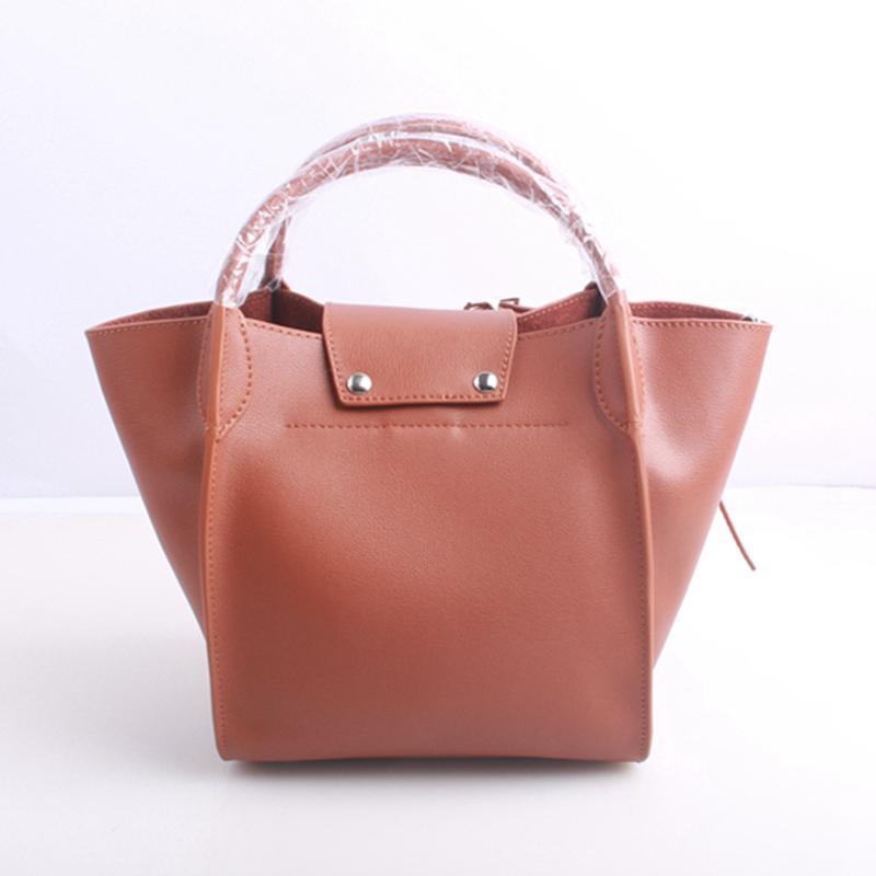 Trapèze mode véritable sacs à main de luxe de luxe femmes sacs cuir de vachette cuir nouveau sac style fourre-tout cuir designer sacs de sacs elmxr