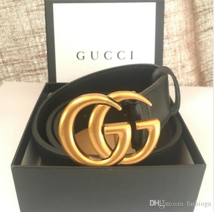 Cinturones de lujo de diseño Correas para hombres hebilla de cinturón de castidad masculinoGucci Correas de la correa superior del cuero para hombre de la moda