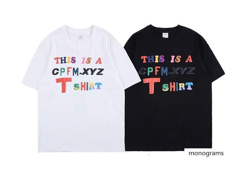 CPFM.XYZ Se trata de una CAMISETA letra del color de la espuma tridimensional KANYE de manga corta T-shirt