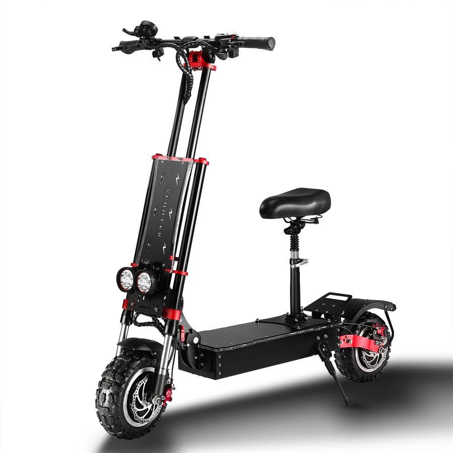 5600W bicicleta plegable dual motor plegable scooter eléctrico 60v scooter de patada eléctrica con 11 pulgadas de neumáticos de carretera y frenos hidráulicos